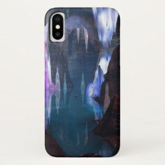 Capa Para iPhone X Cavernas de brilho pela case mate do iPhone da
