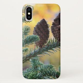 Capa Para iPhone X Cena da natureza das florestas dos cones do pinho
