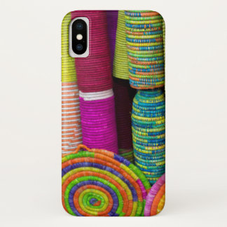 Capa Para iPhone X Cestas coloridas no mercado