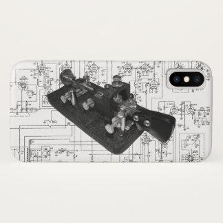 Capa Para iPhone X Chave semiautomática do código Morse do