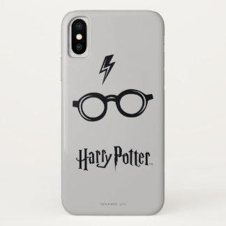 Capa Para iPhone X Cicatriz e vidros do relâmpago do período   de