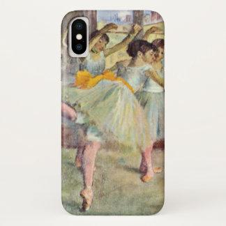 Capa Para iPhone X Classe do balé, a dança salão por Edgar Degas