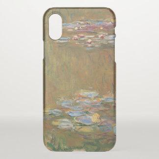 Capa Para iPhone X Claude Monet o vintage de GalleryHD da lagoa do