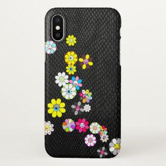 Capa Para iPhone X Cobra e flores