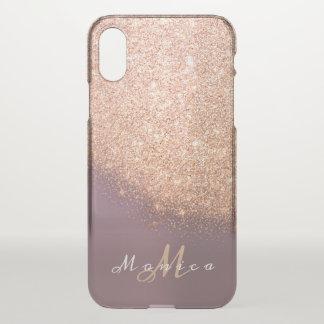 Capa Para iPhone X Cobre do pêssego do ouro da lavanda do nome do