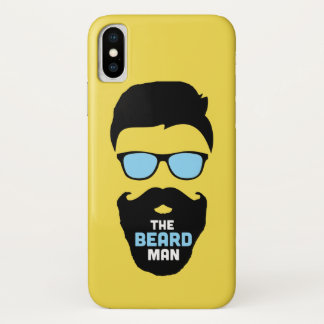 Capa Para iPhone X Cobrir do caso dos homens da barba