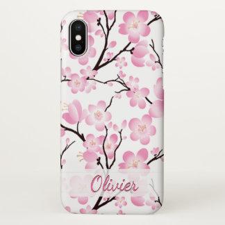 Capa Para iPhone X cobrir elegante do caso do iphone x da flor de