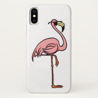 Capa Para iPhone X Cobrir legal do iPhone X do flamingo