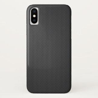 Capa Para iPhone X Cobrir traseiro móvel do design elegante da fibra