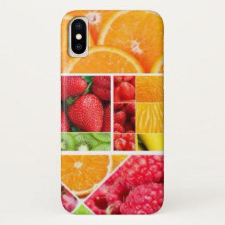 Capa Para iPhone X Colagem da fruta da mistura