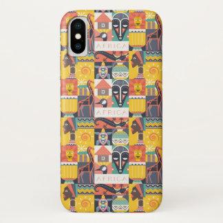 Capa Para iPhone X Colagem simbólica africana da arte