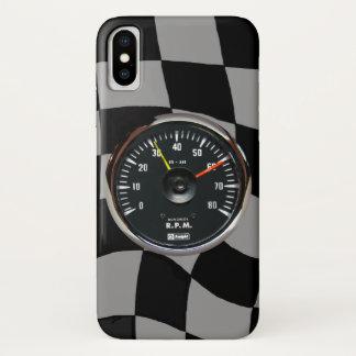 Capa Para iPhone X Competência análoga do tacômetro do vintage auto