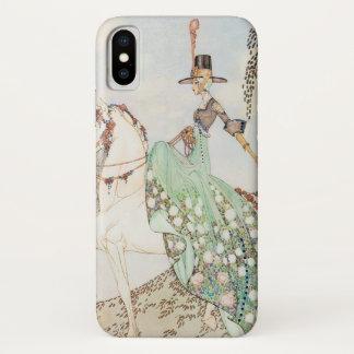 Capa Para iPhone X Conto de fadas do vintage, princesa Minette, Kay