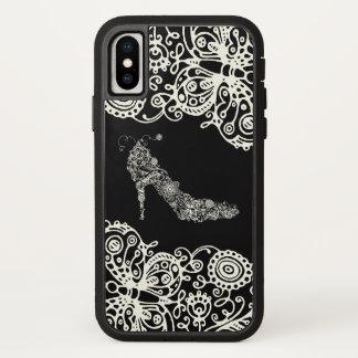 Capa Para iPhone X COR chique da MUDANÇA dos calçados (mais opções) -