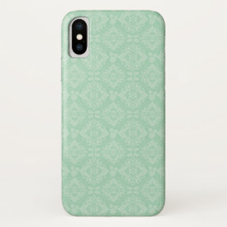 Capa Para iPhone X Cor damasco verde