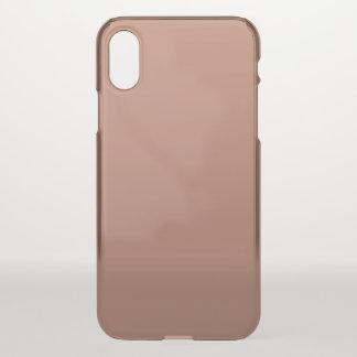 Capa Para iPhone X Cora o ouro Brown de cobre