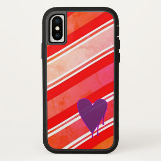 Capa Para iPhone X Coração de derretimento Xtreme resistente roxo