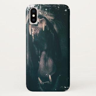 Capa Para iPhone X Coração de um leão! (Olhar sujo)