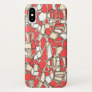 Capa Para iPhone X Coral QUEBRADO do POP
