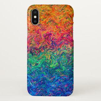 Capa Para iPhone X cores do líquido do caso do iPhone X