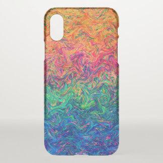 Capa Para iPhone X cores do líquido do caso do iPhone X claramente