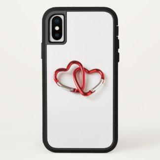 Capa Para iPhone X Corrente chave da forma do coração. Amor