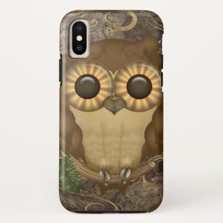 Capa Para iPhone X Coruja bonito de Brown