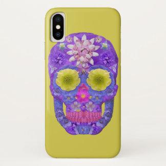 Capa Para iPhone X Crânio 5 da flor