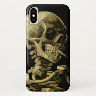 Capa Para iPhone X Crânio com o cigarro ardente por Van Gogh