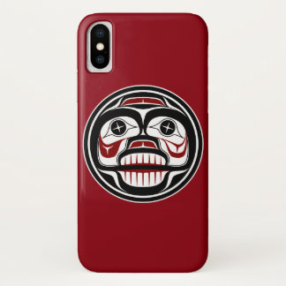 Capa Para iPhone X Crânio Weeping do Haida noroeste da Costa do