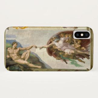 Capa Para iPhone X Criação do homem por Michelangelo, belas artes do