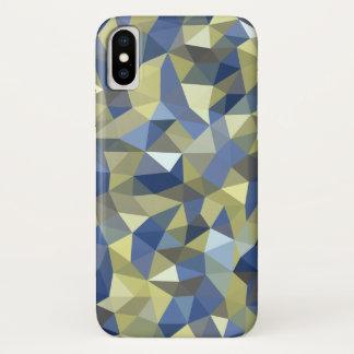 Capa Para iPhone X Cristal do azul do ouro