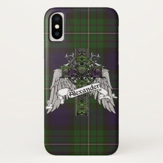Capa Para iPhone X Cruz do Tartan de Alexander