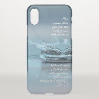 Capa Para iPhone X Da água azul da vida verso John da bíblia da sede