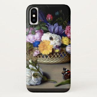 Capa Para iPhone X Da flor arte holandesa da pintura de Bosschaert da