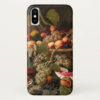 Capa Para iPhone X Da fruta pintura barroco chique colorida da vida
