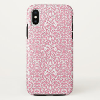 Capa Para iPhone X Damasco de Kawaii do rosa de bebê