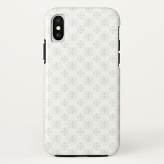 Capa Para iPhone X Damasco real barroco de turquesa
