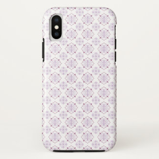 Capa Para iPhone X Damasco real barroco roxo