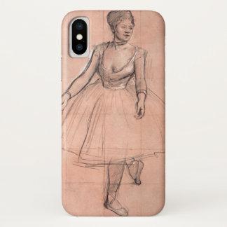 Capa Para iPhone X Dançarino de balé (estudo) por Edgar Degas, arte