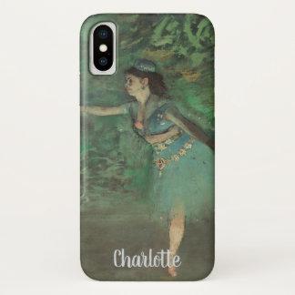 Capa Para iPhone X Dançarino no palco por Edgar Degas, balé do
