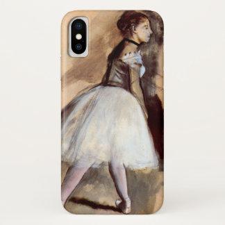 Capa Para iPhone X Dançarino que está por Edgar Degas, arte do balé