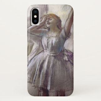 Capa Para iPhone X Dançarino que estica por Edgar Degas, balé do