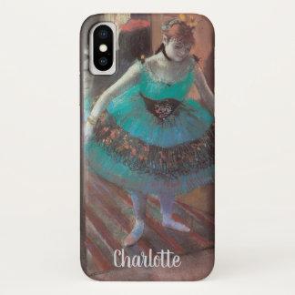 Capa Para iPhone X Dançarino que sae lhe do vestuario por Edgar Degas