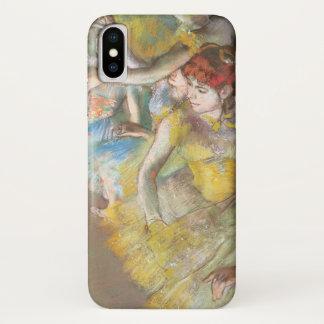 Capa Para iPhone X Dançarinos de balé no palco por Edgar Degas