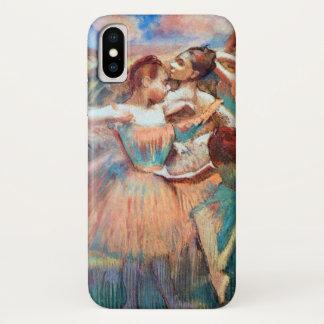 Capa Para iPhone X Dançarinos em uma paisagem por Edgar Degas