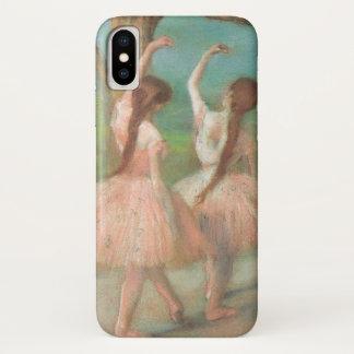 Capa Para iPhone X Dançarinos no rosa por Edgar Degas, arte do balé