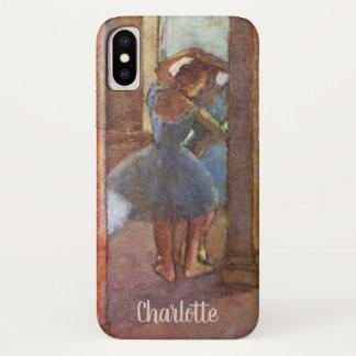 Capa Para iPhone X Dançarinos no vestíbulo, Edgar Degas, arte do balé