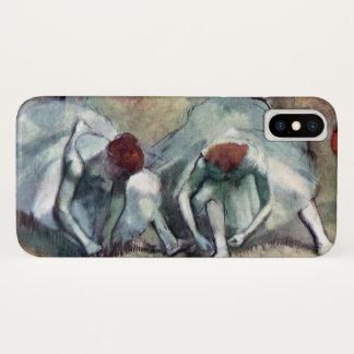 Capa Para iPhone X Dançarinos que atam seus calçados por Edgar Degas
