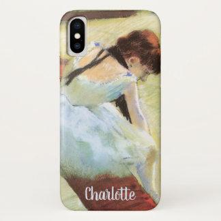 Capa Para iPhone X Dançarinos que descansam por Edgar Degas, arte do